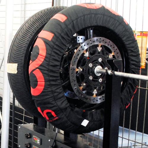 calentador de neumáticos de moto