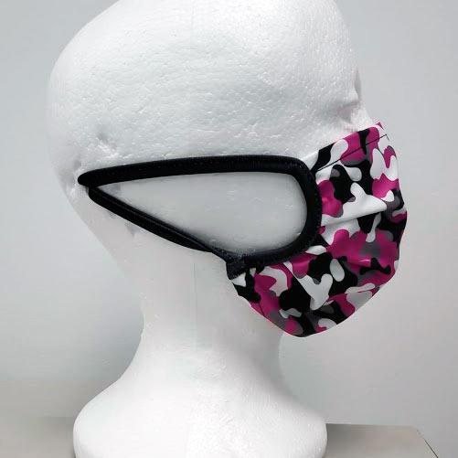 mascarilla de camuflaje rosa para chicas