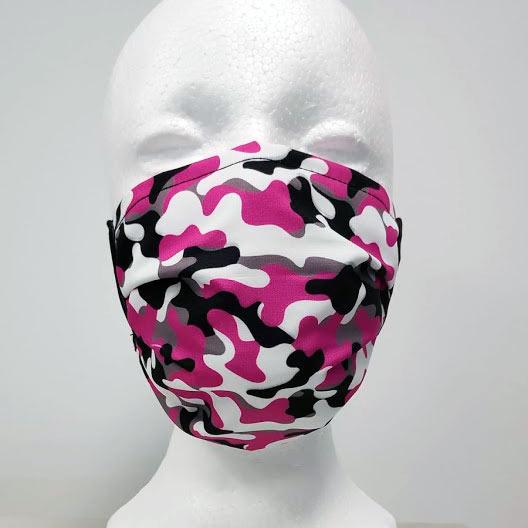 mascarilla de camuflaje rosa para chica