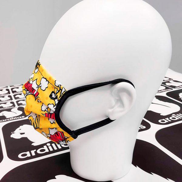 Mascarillas estampado Comic color amarillo