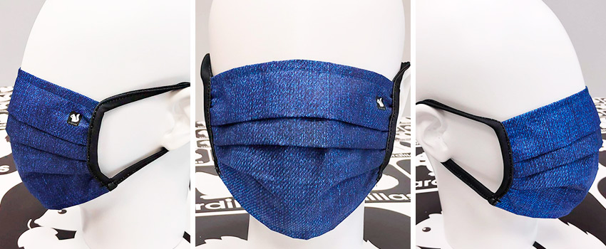 Mascarillas lavables Azul Denim