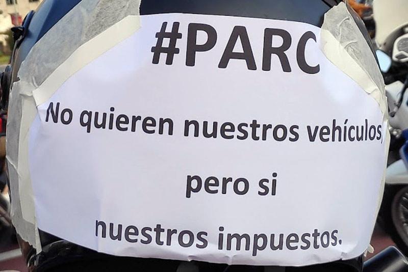 manifetación ASOCPARC motos barcelona