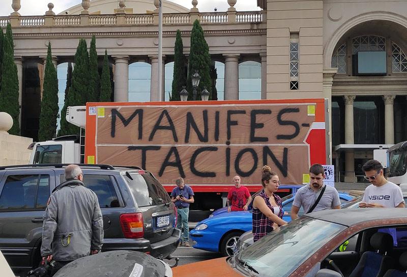 Manifestación de la Parc en Barcelona
