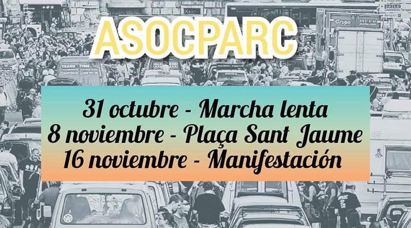 próximas manifestaciones asocparc Barcelona