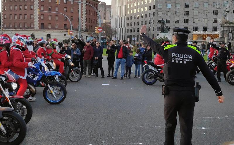 policía en la Papanoelada Barcelona