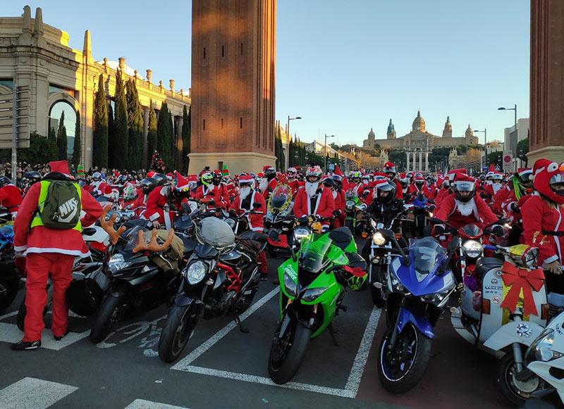 motos papanoelada Barcelona