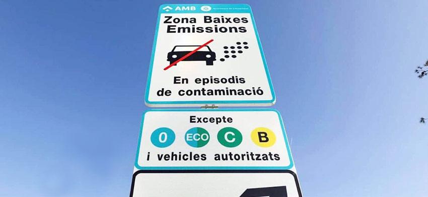 zona baixes emissions Barcelona
